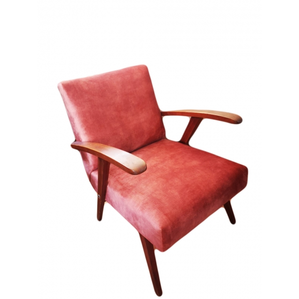 Canadian armchair living coral