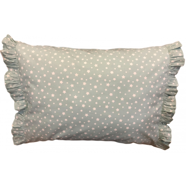 Luxury bed pillow blue stars